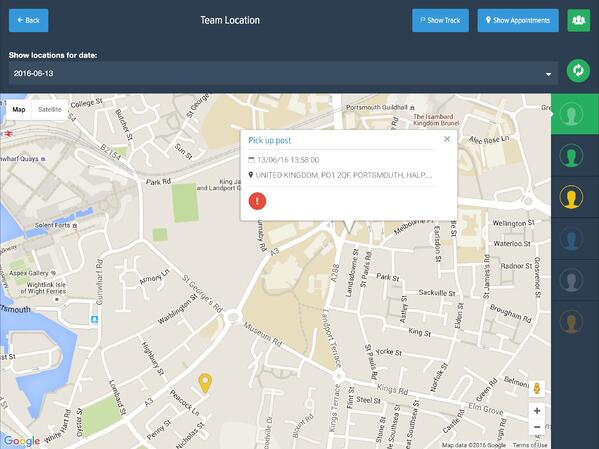 Powered Now, location tracking