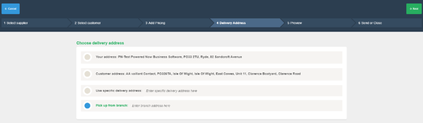 Powered Now, Creating a Purchase Order From a Quote