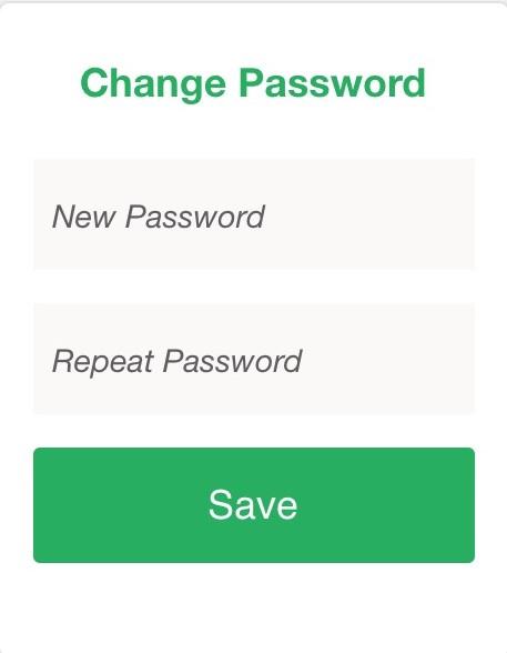 Powered Now, resetting password